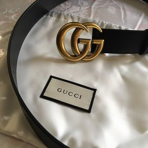 Gucci gold belt 1.5